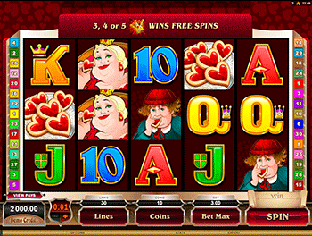 Игровой автомат Rhyming Reels Queen Of Hearts 3