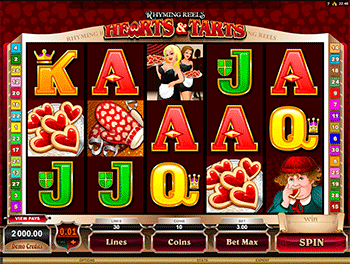 Игровой автомат Rhyming Reels Queen Of Hearts 1